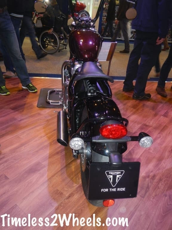 rear shot of the triumph bobber