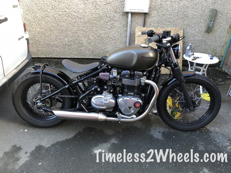 Finished triumph bobber