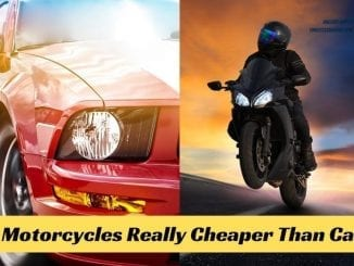 Are motorcycles cheaper than cars