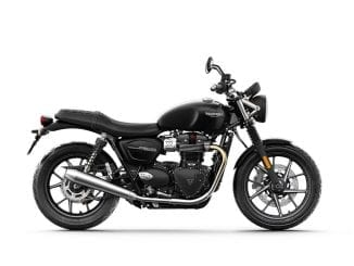 Triumph street twin side view