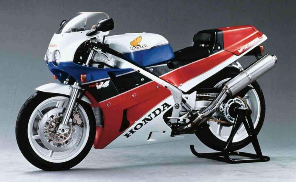 One of the most collectable 80's motorcycle, the Honda VFR750R RC30