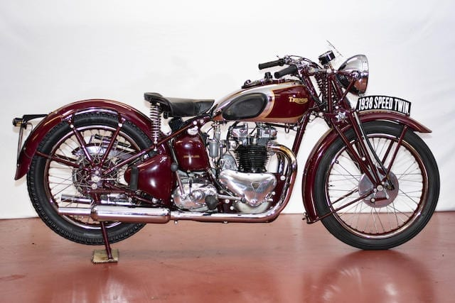 the Triumph 5T speed twin released 1938