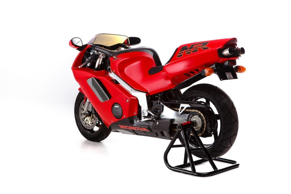 Honda NR750 is today one of the most desirable bikes of the modern era