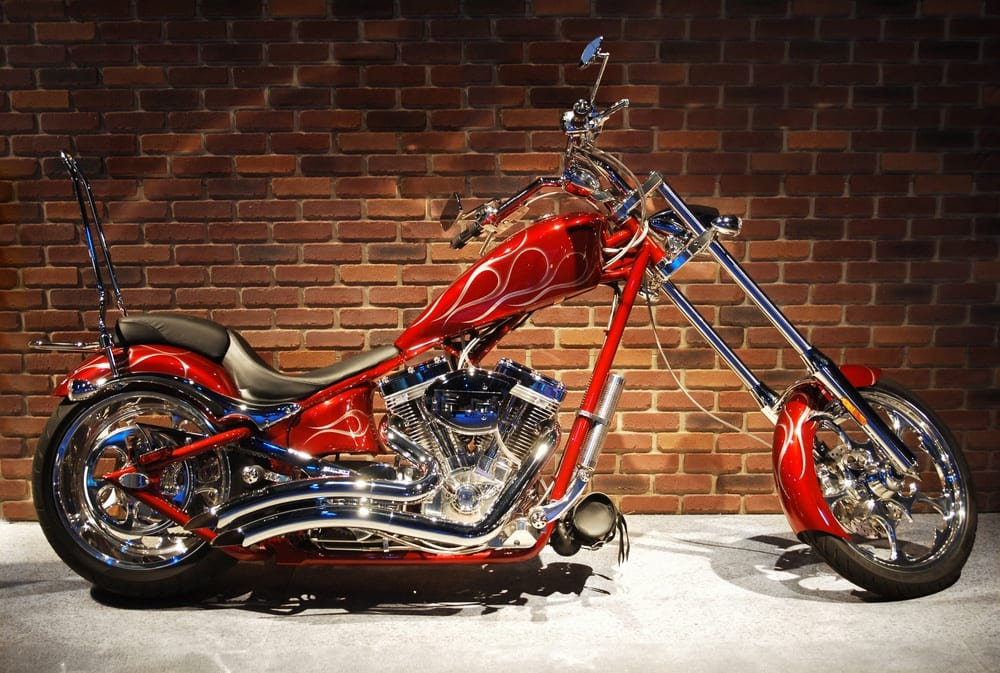 Modified motorcycle insurance is required for custom bikes like this