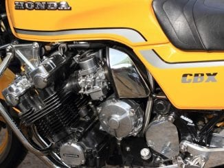 Honda CBX 1000 engine close up